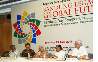 Bandung Legacy and and Global Future: Participants in the symposium included Prof. Manoranjan Mohanty, DCM, Embassy of Indonesia, Dr Kapila Vatsayan, Prof. Muchkund Dubey and Prof. Deepak Nayyar.
